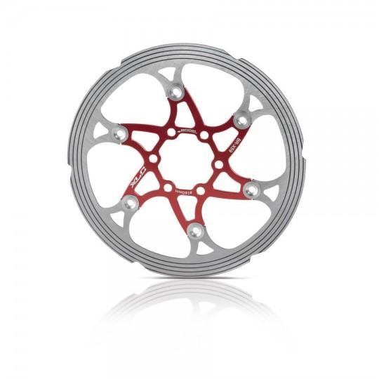 2500322500 XLC Disco freno BR-X59 diametro 160mm rosso/argento canello CNC di frizione