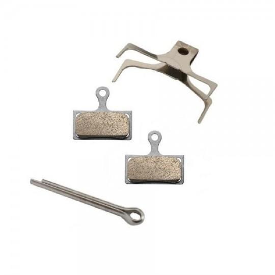 Y8WW98020 SHIMANO Coppia pastiglie in resina G02S XTR / XT / SLX con supporto in acciaio