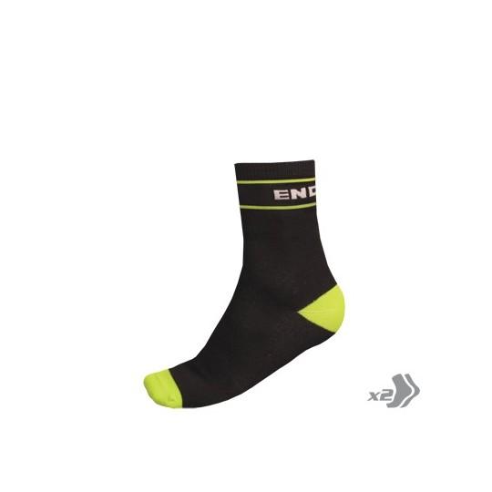 E0104 Endura Retro Sock (Twin Pack) Black