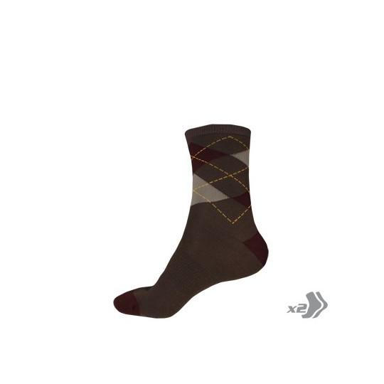 E0087 Endura Argyll Sock (Twin Pack) Ultramarine