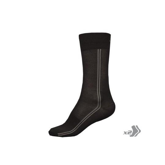E0105 Endura COOLMAX Long Sock (Twin Pack) Black