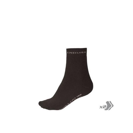 E0013 Endura THERMOLITE Sock (Twin Pack) Black