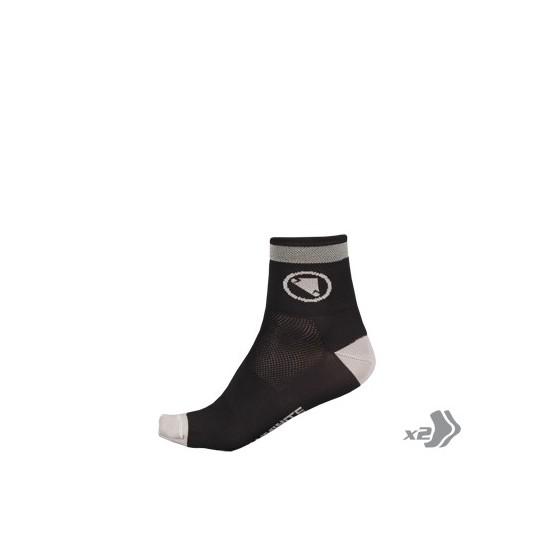 E0113 Endura Wms Luminite Sock (Twin Pack) HiVizPink