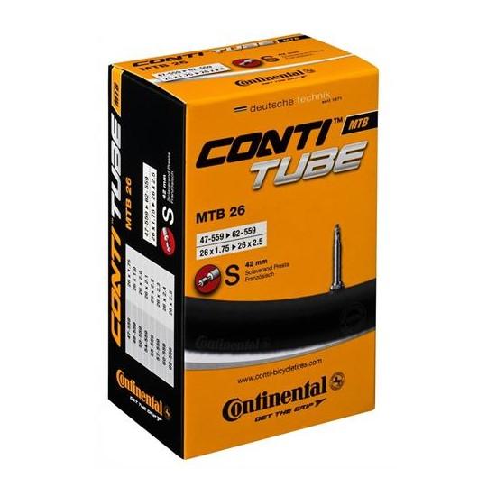 CON/T26 CAMERA CONTINENTAL IN BOX 26X1.75-2.125 Presta 42 mm
